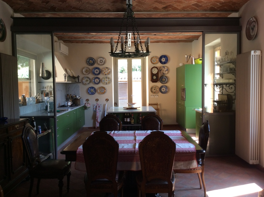 View of breakfast area and into kitchen