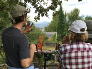 Painting at Poggio Verde