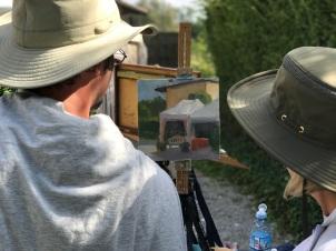 Painting at Giovanna Passeri