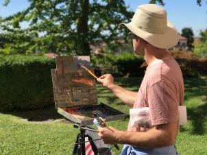 Painting at Villa Vitale