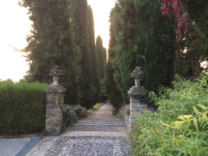 Pathway to the Poggio Verde park