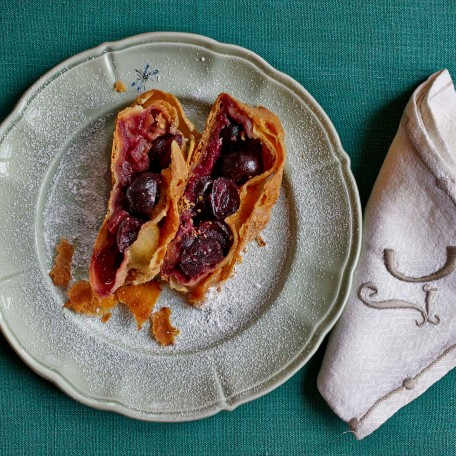 Here's Cicchi's Cherry Strudel an hour later.... scrumptious!