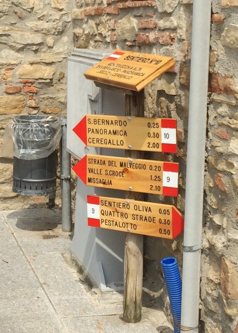 Lots of options for walking trails from Montevecchia