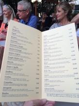 Part of the Laghee menu