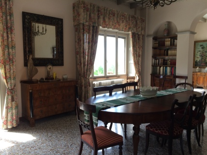 The beautiful dining room in the morning light