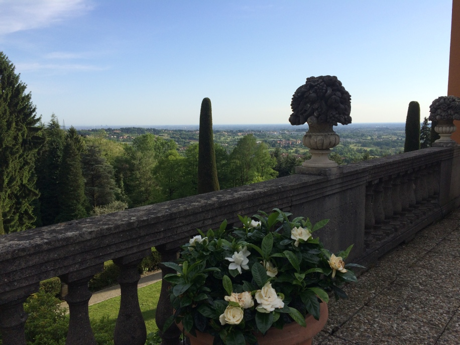 View from the terrace toward Milan