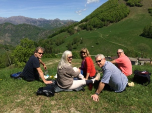 Wonderful hiking and picnic at Piani d'Erna above Lake Lecco