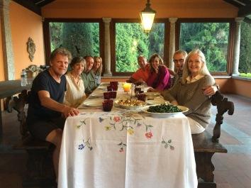 """Dinner under the """"Portico Coperto"""""""