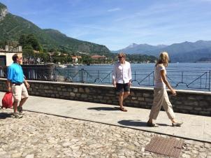 Walking toward Villa Balbianello from Lenno
