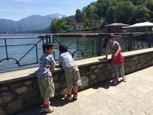 Little ones enjoying Lake Como