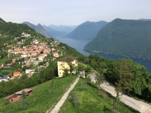 View toward Monte Bré and Lake Lugano beyond