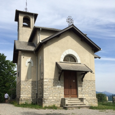 The church next to the Torretta, at the top of Monte Bre.