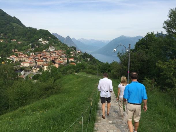 Above Lake Lugano