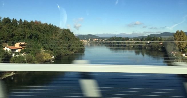 First glimpse of Lago Maggiore