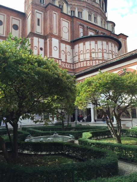 The cloister behind Santa Maria della Grazie (home of Da Vnci's Last Supper)