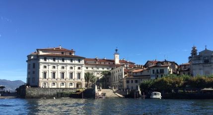 West side of Isola Bella and the palazzo