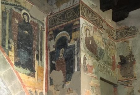 Fresco in the Aura della Curia in Bergamo