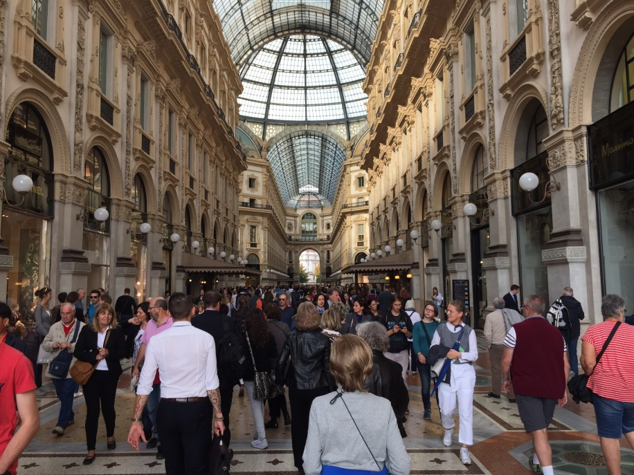 The Galleria, next to the Duomo