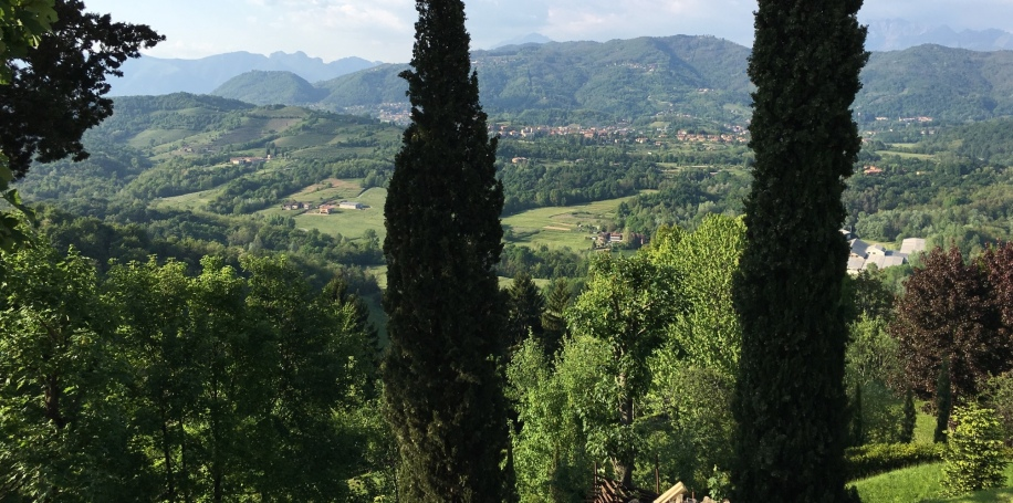 View from the top of the steps at Montevecchia
