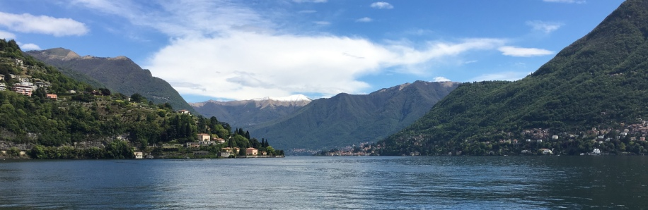 View of Lake Como from the City of Como