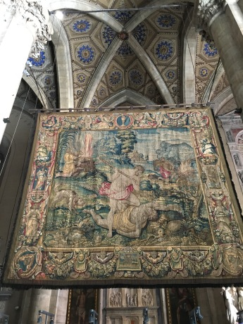 Tapestry in the Como Cathedral
