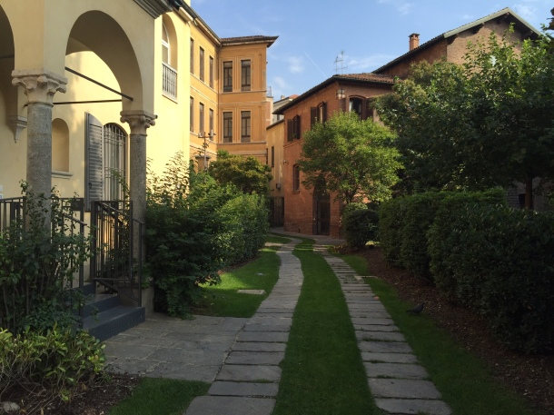 A beautiful alleyway near the Santa Maria delle Grazie church