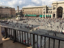 The view of the Piazza del Duomo to the Galleria from the restaurant