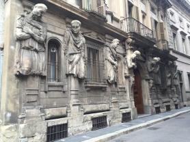 These gentlemen keep watch around the corner from the Piazza la Scala