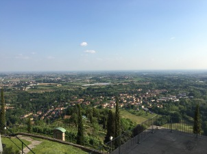 View from the top of the stairs in Montevecchia