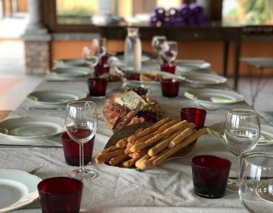 The table in the Portico Coperto