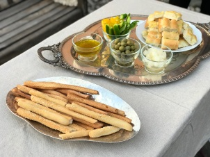 Nibbles to enjoy on the south terrace