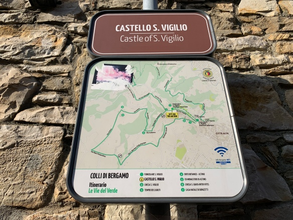 Map of the Castello S Vigilio